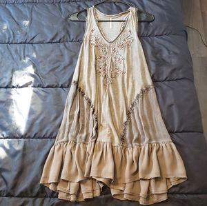 Free People Beaded Tank Tunic Dress